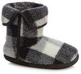 Mantaray Grey Check Print Slipper Boots