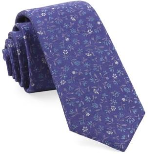 Tie Bar Floral Acres Purple Tie