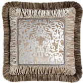 "Dian Austin Couture Home Gretta Pillow with Scroll Center, 18""Sq."