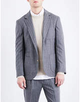 Brunello Cucinelli Pinstripe Slim-fit Wool Jacket