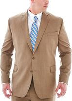 STAFFORD Stafford Travel Tan Herringbone Suit Jacket - Big & Tall