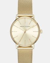 Armani Exchange Lola Gold-Tone Analogue Watch