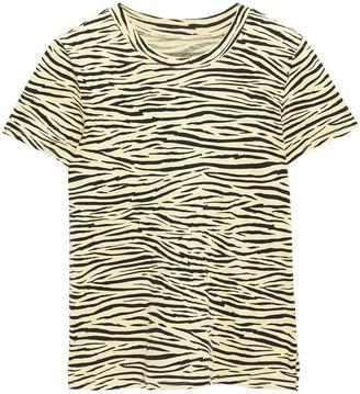 Enza Costa Zebra-print Cotton-jersey T-shirt