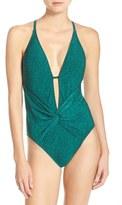 LaBlanca Women's La Blanca 'Spruce It Up' Twist Front One-Piece Swimsuit