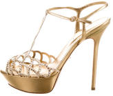 Sergio Rossi Vague Strass Platform Sandals