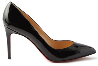 Christian Louboutin Pigalle 85 Patent-leather Pumps - Womens - Black