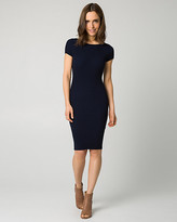 Le Château Knit Scoop Back Midi Dress
