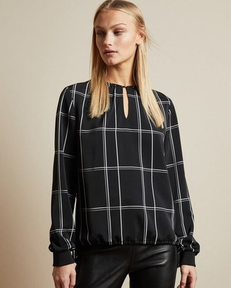 Ted Baker Keyhole Detail Checked Top