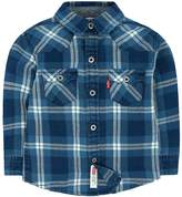 Levi's Boys 4-7 Barstow Western Plaid Button Down Shirt
