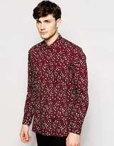 Peter Werth Premium Shirt With All Over Floral Print - Red