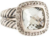 David Yurman Prasiolite & Diamond Albion Ring