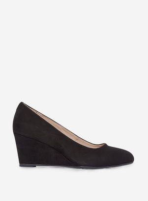 Dorothy Perkins Womens Black 'Dreamer' Wedge Court Shoes, Black
