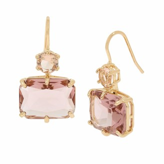 Jessica Simpson Mixed Stone Double Drop Earrings