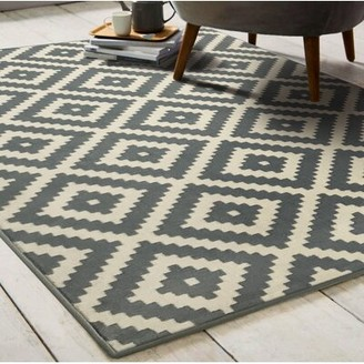 Union Rustic Jan Washable Gray/Beige Area Rug Rug Size: Rectangle 8' x 10'
