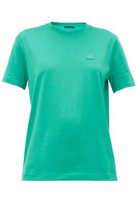 Acne Studios Ellison Face Cotton-jersey T-shirt - Womens - Green