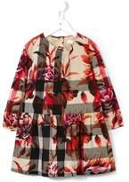 Burberry peony rose print check dress