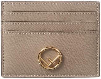 Fendi Logo Leather Card Case