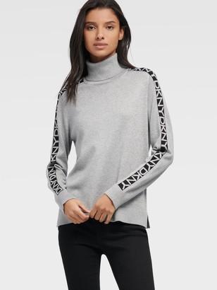 DKNY Unisex Turtleneck With Step Hem - Frost Grey - Size XX-Small