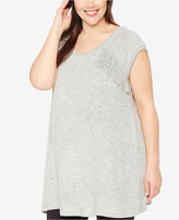 Wendy Bellissimo Maternity Plus Size Fringed Top