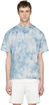 Satisfy Blue Tie Dye run Away Moth Eaten T-shirt
