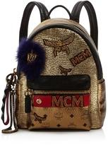 MCM Stark Insignia Small Metallic Backpack