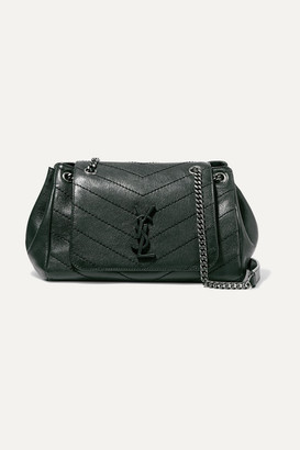Saint Laurent Nolita Medium Quilted Leather Shoulder Bag - Dark green