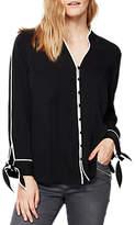 Mint Velvet Tipped Contrast Shirt, Black