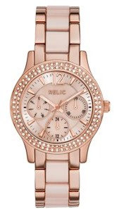 Relics by Fossil Women's Bethany Multifunction Rose Gold and Blush Pink Watch