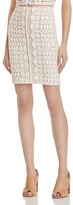 Aqua Lace Mini Skirt
