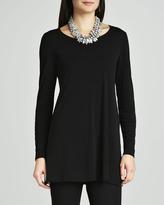 Eileen Fisher Silk Jersey Long-Sleeve Tunic