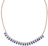 Irene Neuwirth Ceylon Sapphire and Diamond Necklace - Rose Gold