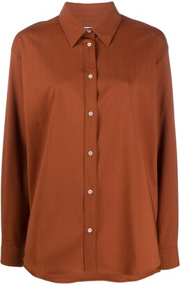 MSGM Long-Sleeve Button-Up Shirt