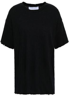 IRO Akalva Distressed Cotton And Silk-blend Jersey T-shirt