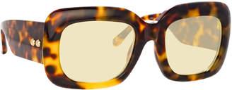Linda Farrow Chunky Rectangular Acetate Sunglasses