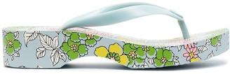 Tory Burch Floral-Print Wedge Flip-Flops