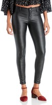 Sole Society Blacked Out Faux Leather Pants