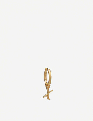 Rachel Jackson X initial 22ct gold-plated vermeil sterling silver hoop