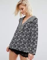 boohoo Floral Print Blouse