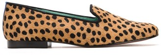 Blue Bird Shoes Animal Print Loafers