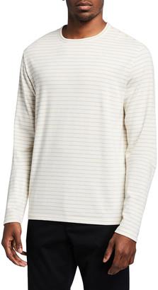 Vince Men's Striped Long-Sleeve Crew T-Shirt