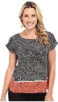 Vince Camuto Drop Shoulder Animal Swirl Blouse