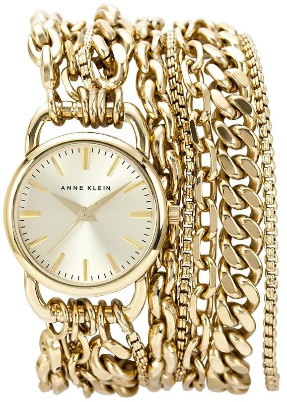 Anne Klein Multi Chain Wrap Bracelet Watch, 31mm