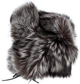 Bergdorf Goodman Silver Fox Trapper Hat