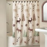 Bed Bath & Beyond Silhouette Lodge Shower Curtain in Natural