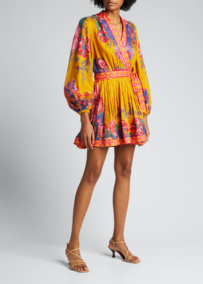 Zimmermann The Lovestruck Wrap Mini Dress