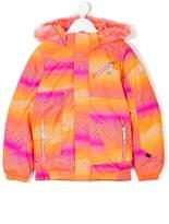 Spyder psychedelic print padded coat