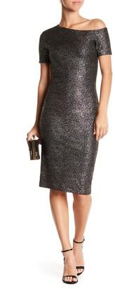Love...Ady Oilslick Metallic Short Sleeve Dress