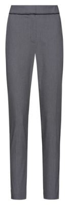 HUGO Slim-leg cropped trousers in a patterned cotton blend