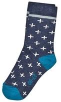 Melton Sock - Cross Navy
