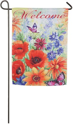 Evergreen Bright Wildflowers Garden Flag